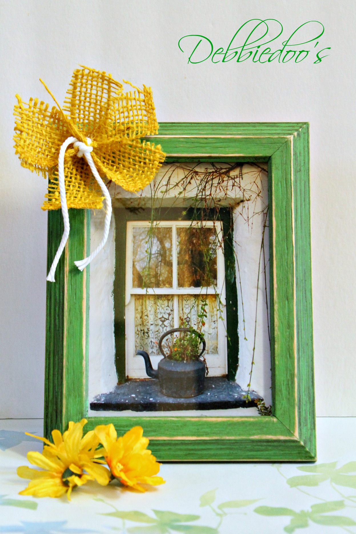 diy picture frame with chalk paint 010