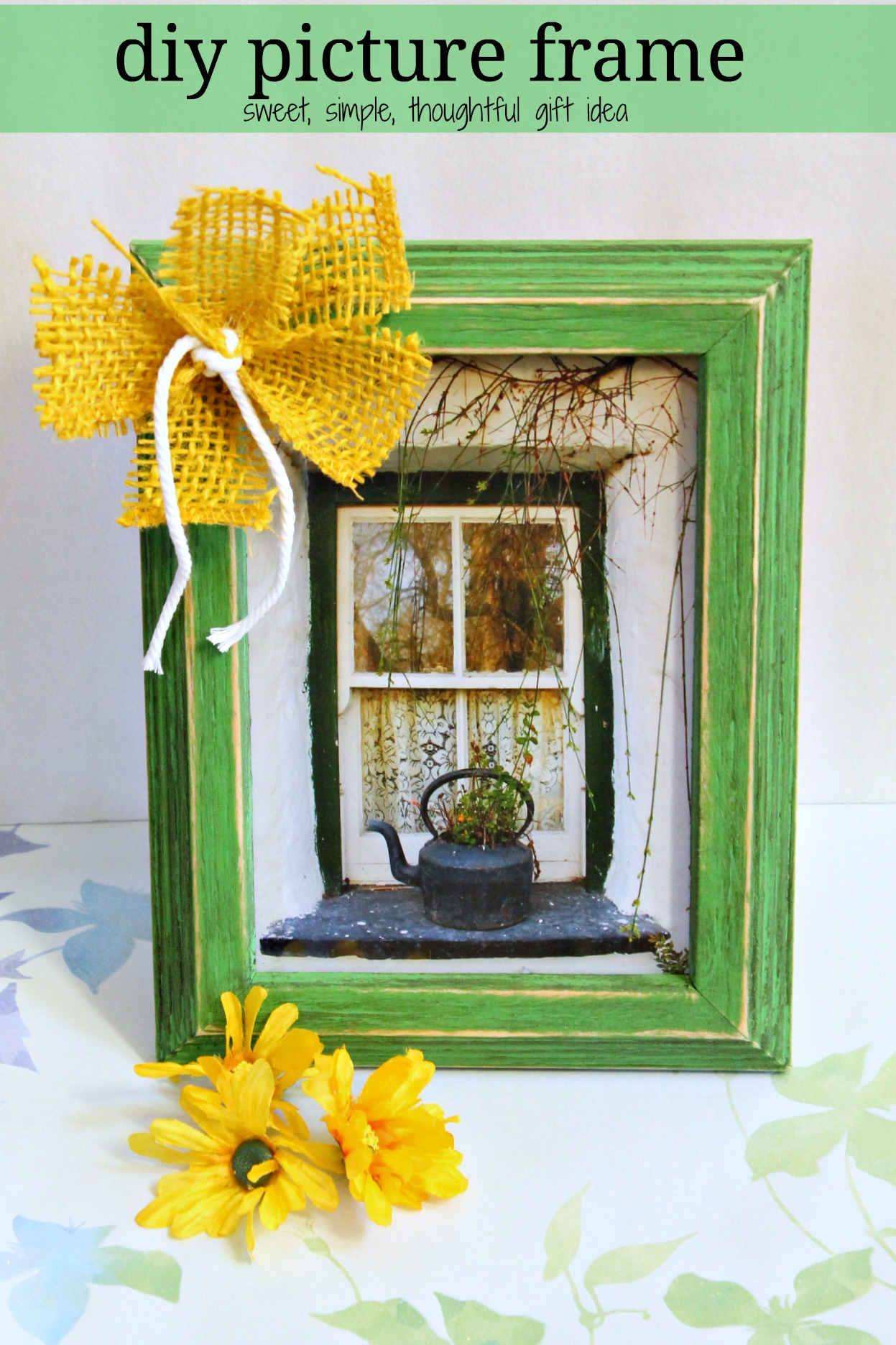diy picture frame with chalk paint 015