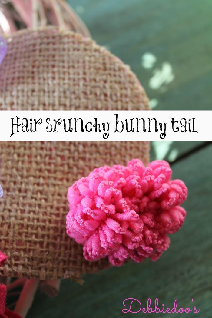 hair scrunchy bunny tail