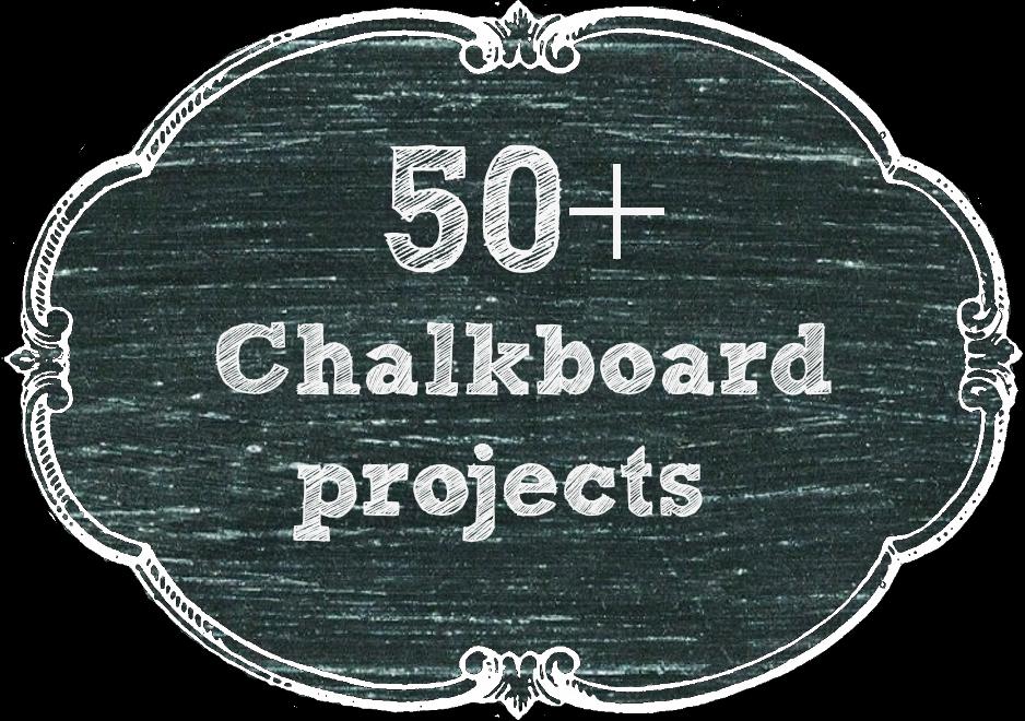 50 + Chalkboard projects