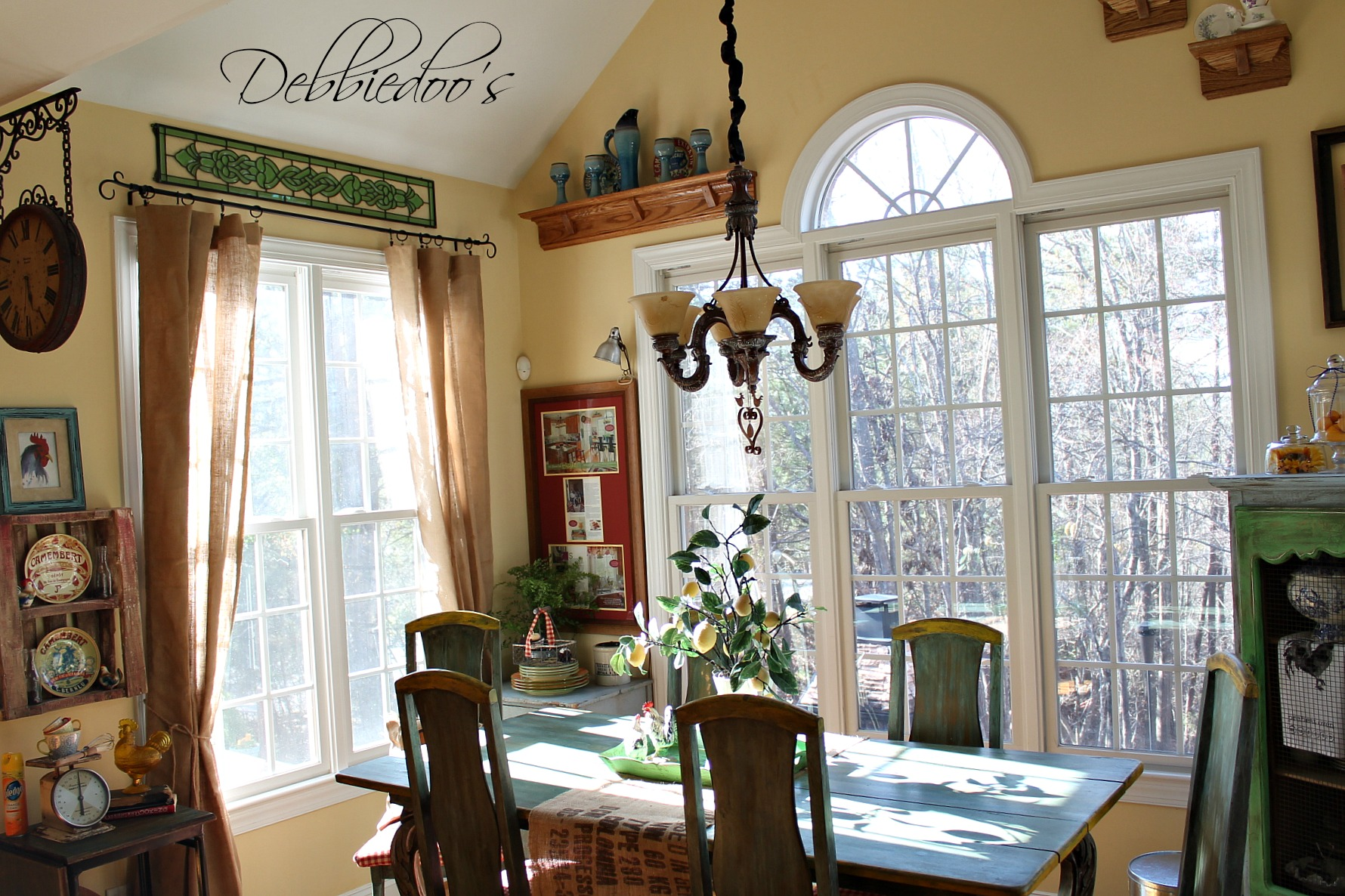 French Country Kitchen Style Freshened Up Debbiedoos