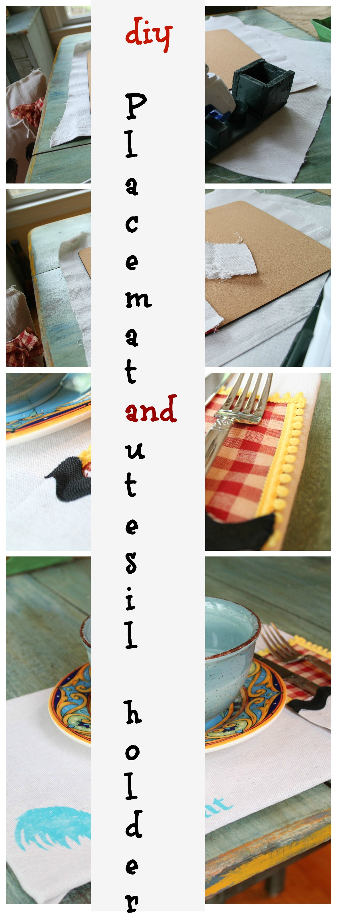 Make your own placemat and utensil holder
