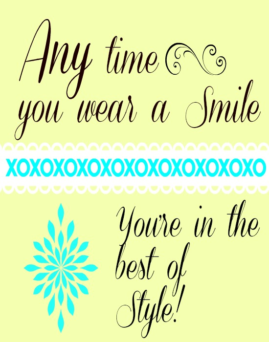 Smile inspiration free printable