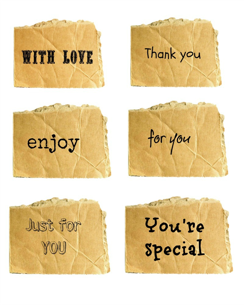 Special gift tags
