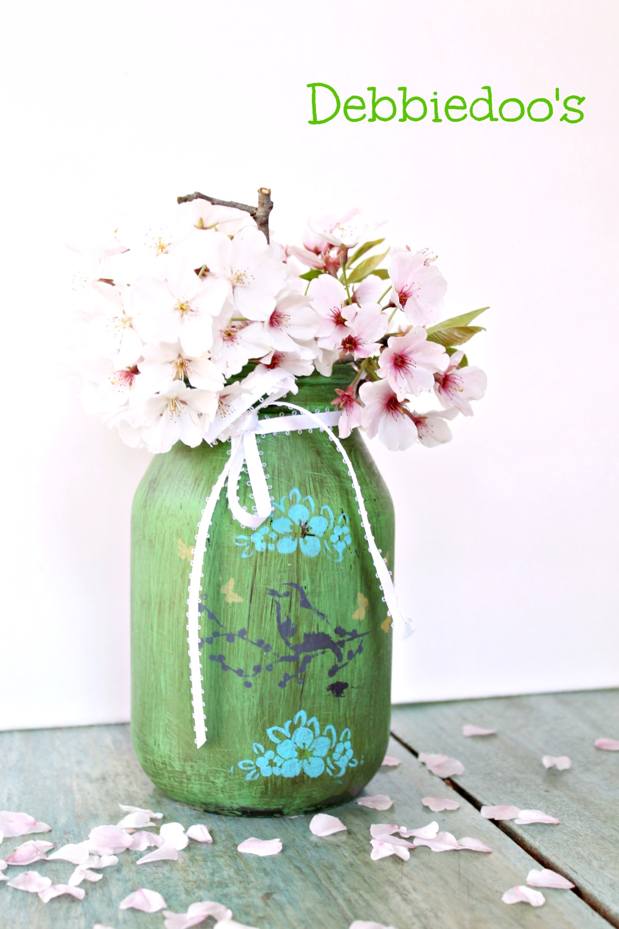 recycled glass jar crafts debbiedoos