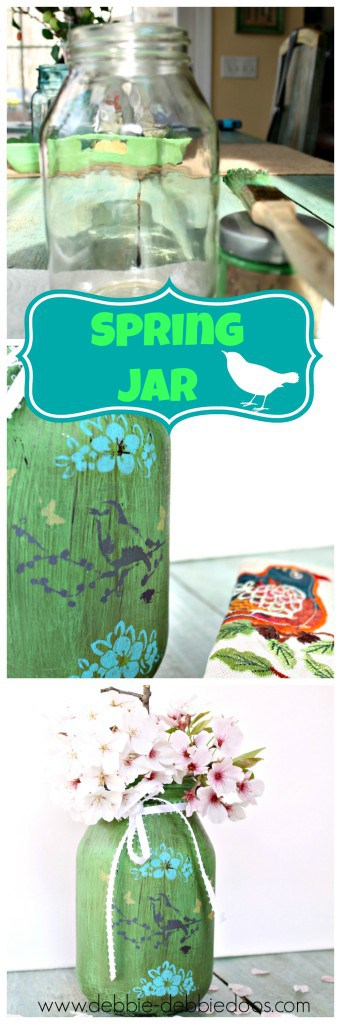 Spring recycled jar craft