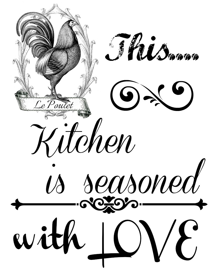 This kitchen is seasoned with LOVE free Printable