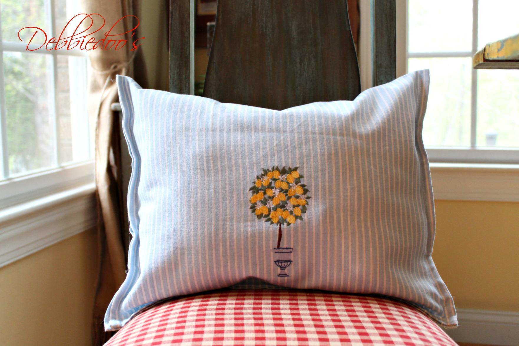 dishtowel pillows