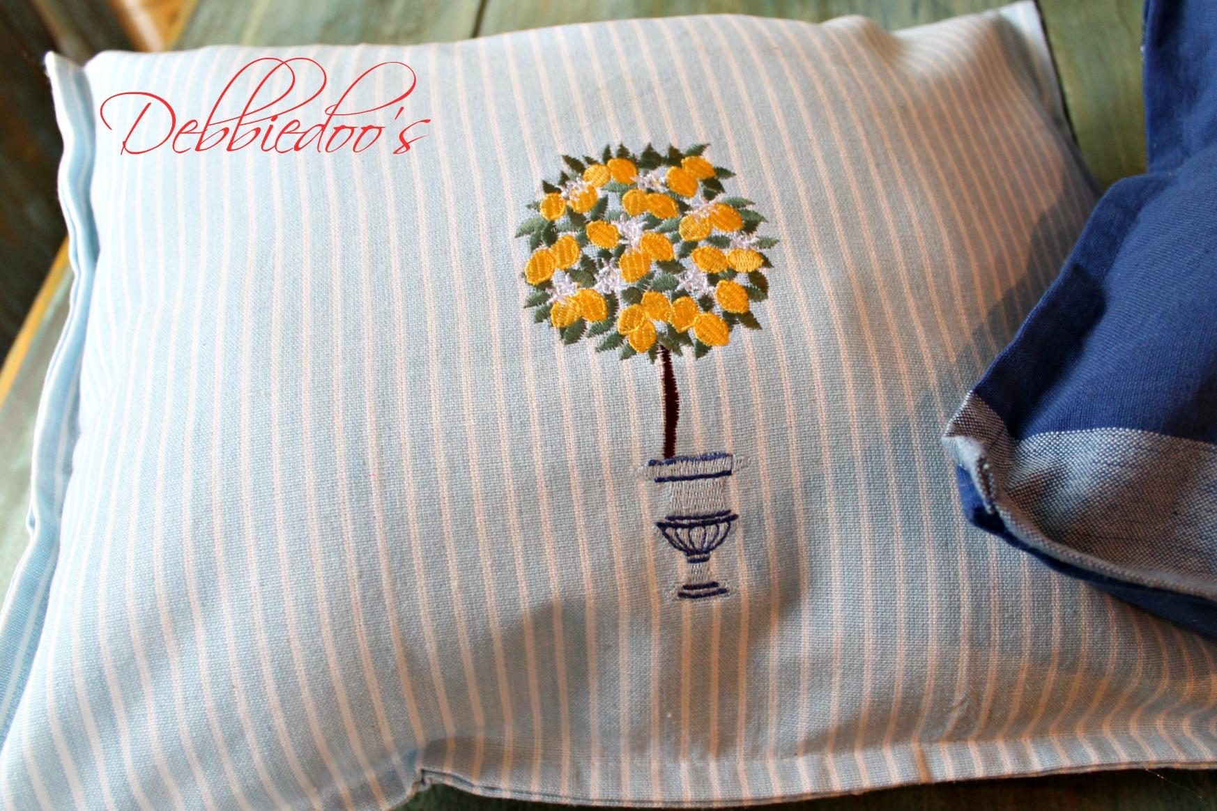 diy dish towel pillow