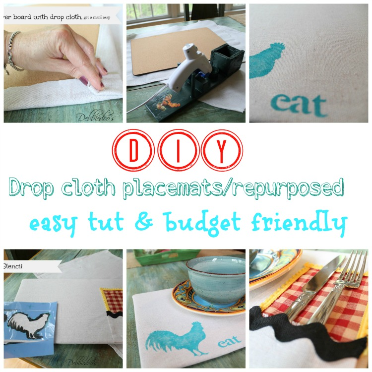 diy drop cloth placemat