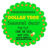 Dollar tree seasonal decorating ideas {party in the making}