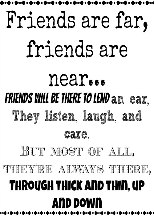 friend printable