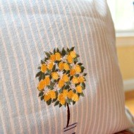 How to make a dish towel pillow for $2.00
