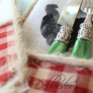 How to make utensil holders out of painters tarps
