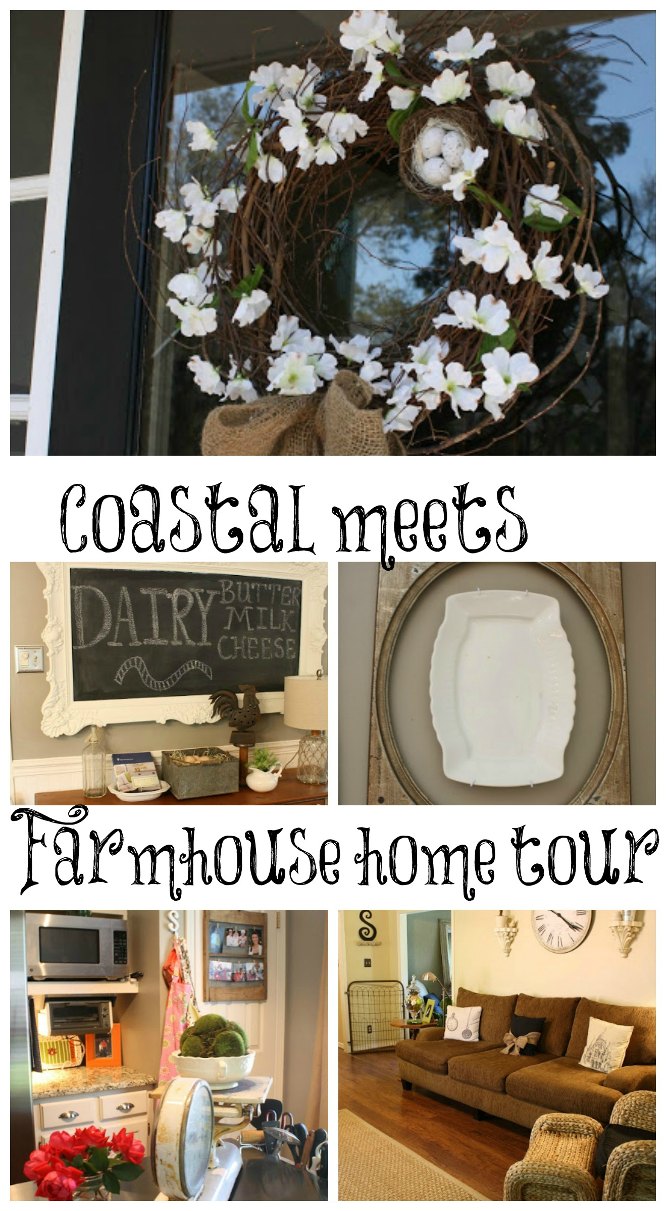Coastal meets farmhouse home tour