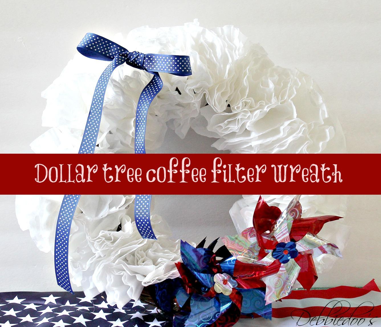 Dollar tree coffee filter wreath