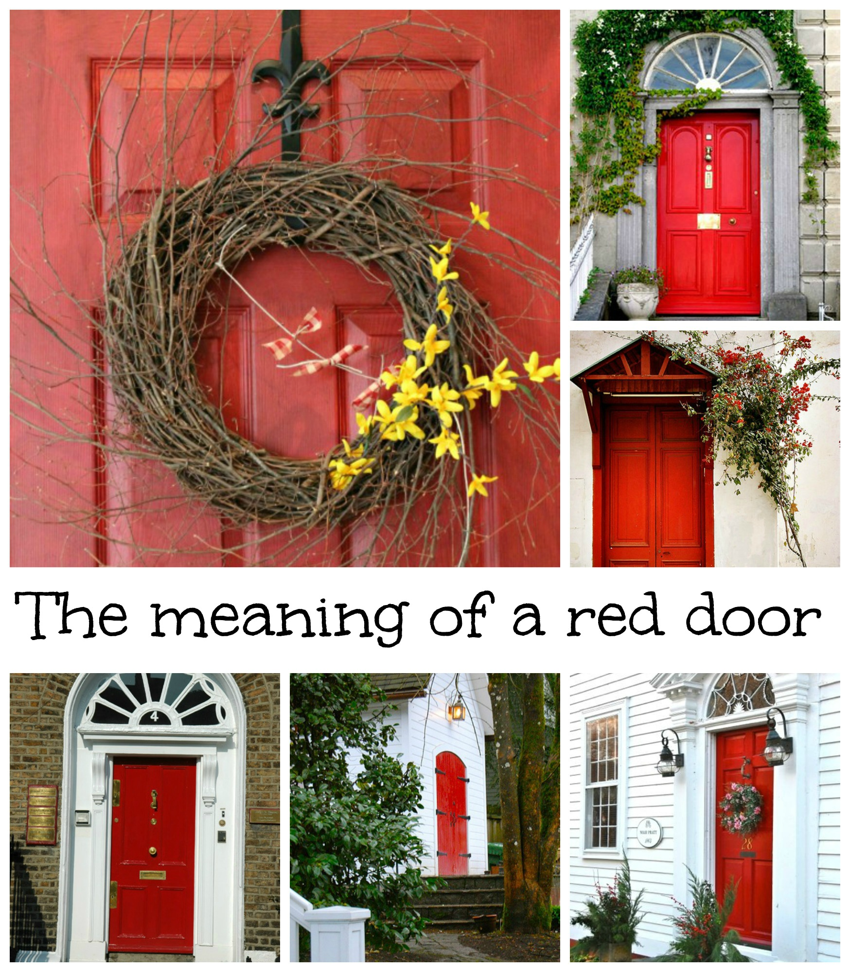What does having a red door mean debbiedoos Gray front door meaning