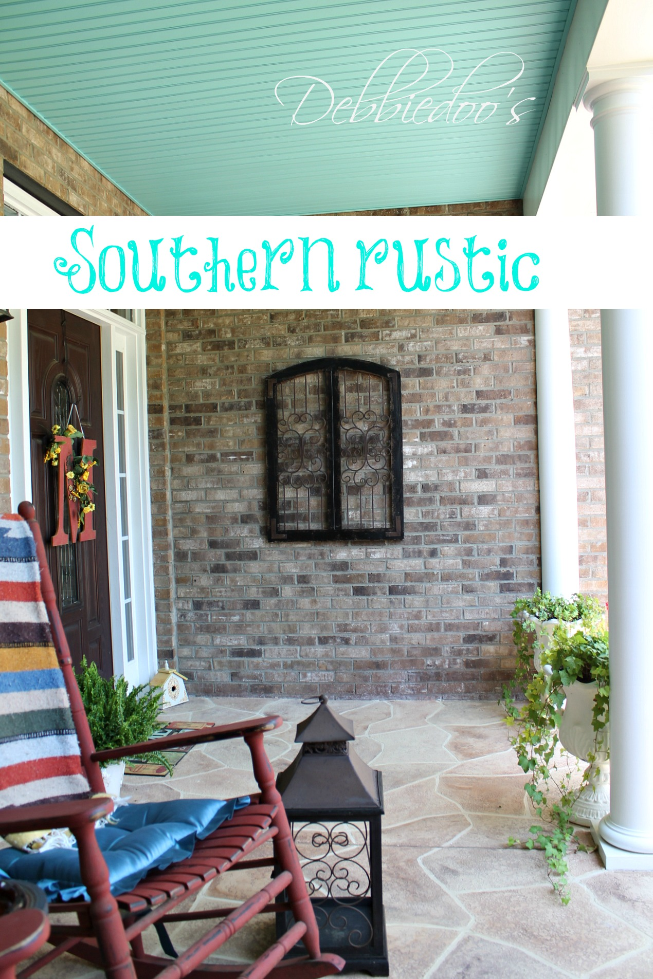 Southern rustic front porch with charm