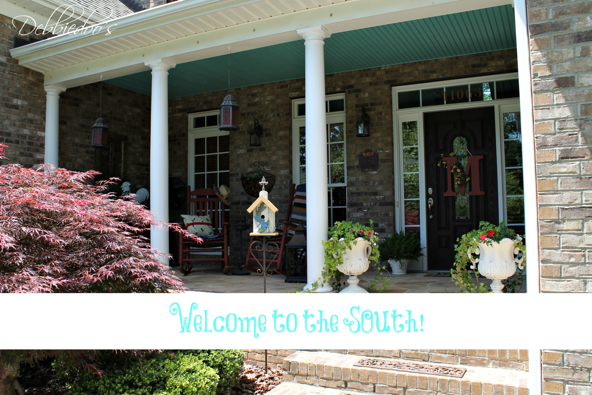 Southern rustic front porch