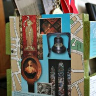 Memories of Ireland travel crate with mod podge