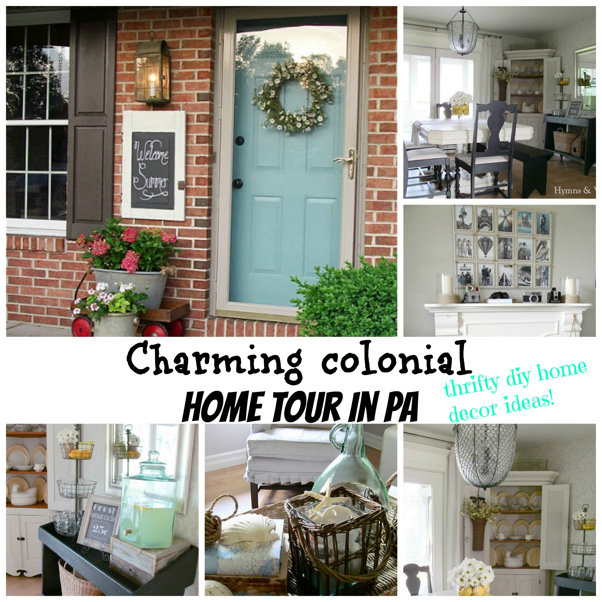 charmin colonial home tour in PA