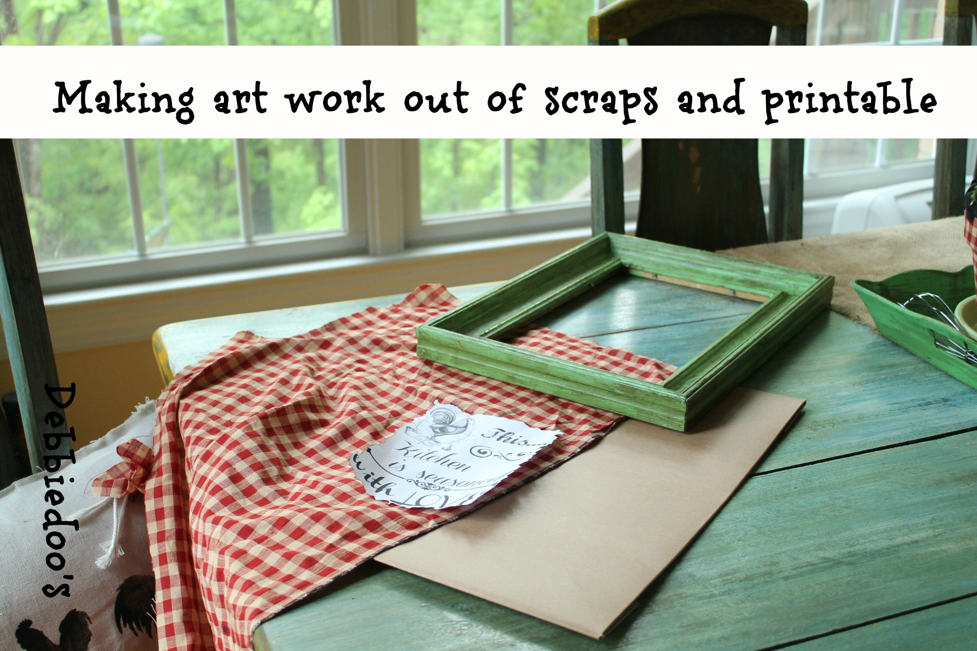 creating art work out of scraps and a free printable