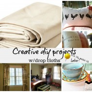 creative diy things to make with drop clothes