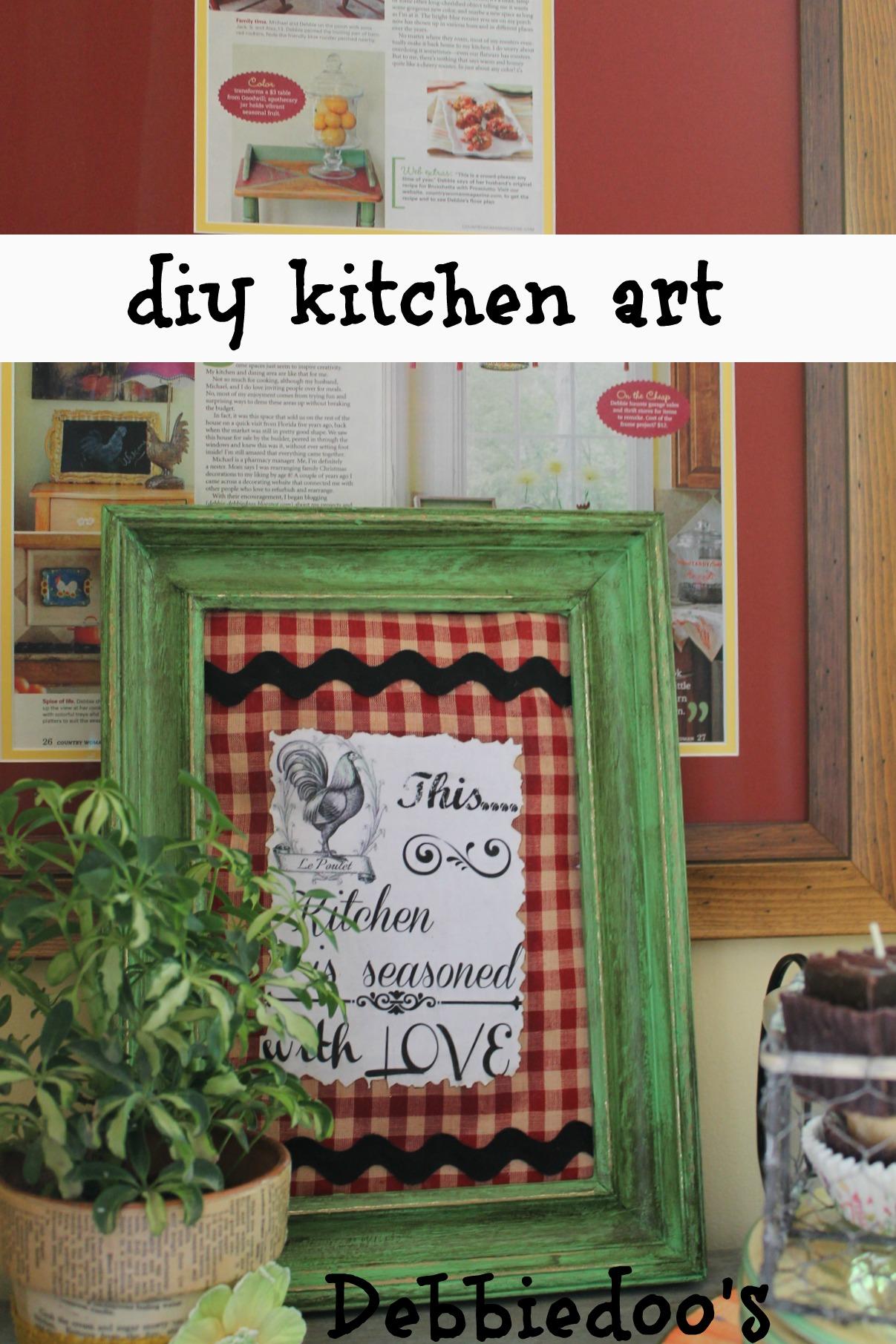 diy kitchen art work with mod podge