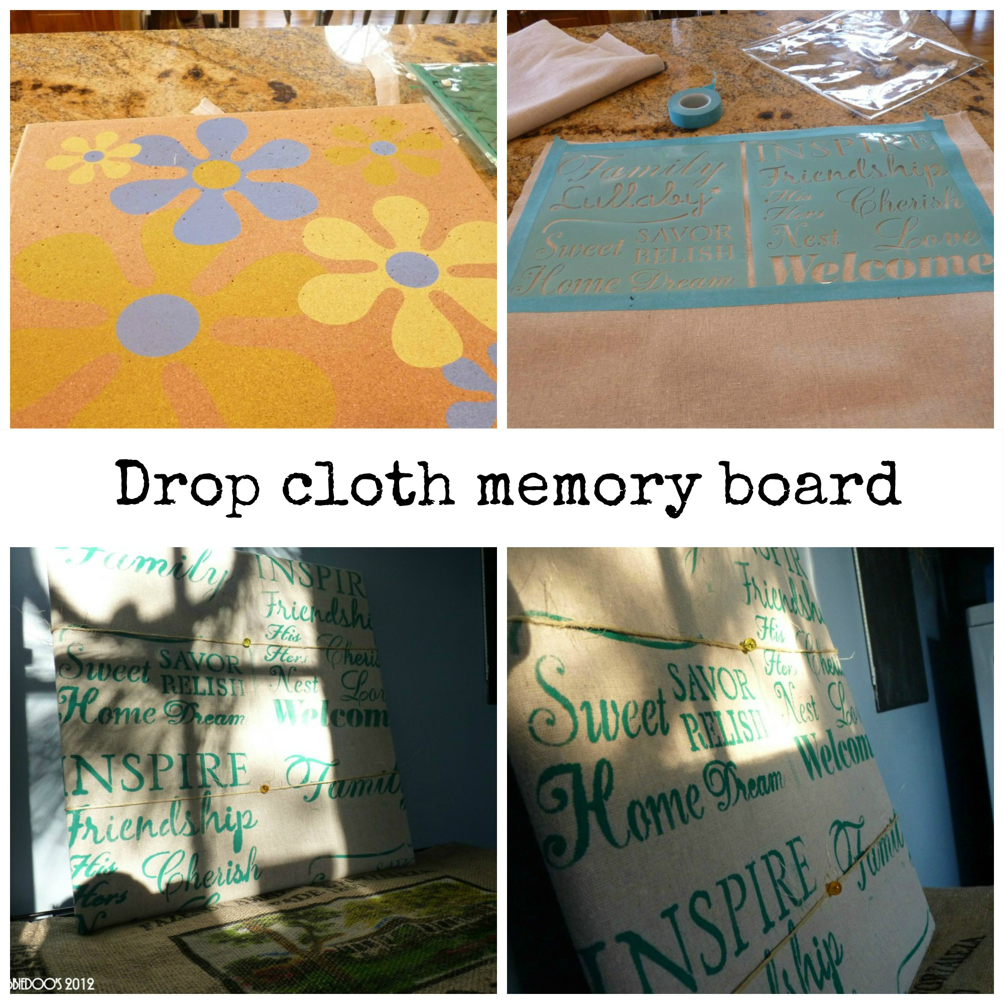 diy-memory-board-from-drop-clothes Diy projects out of drop cloths