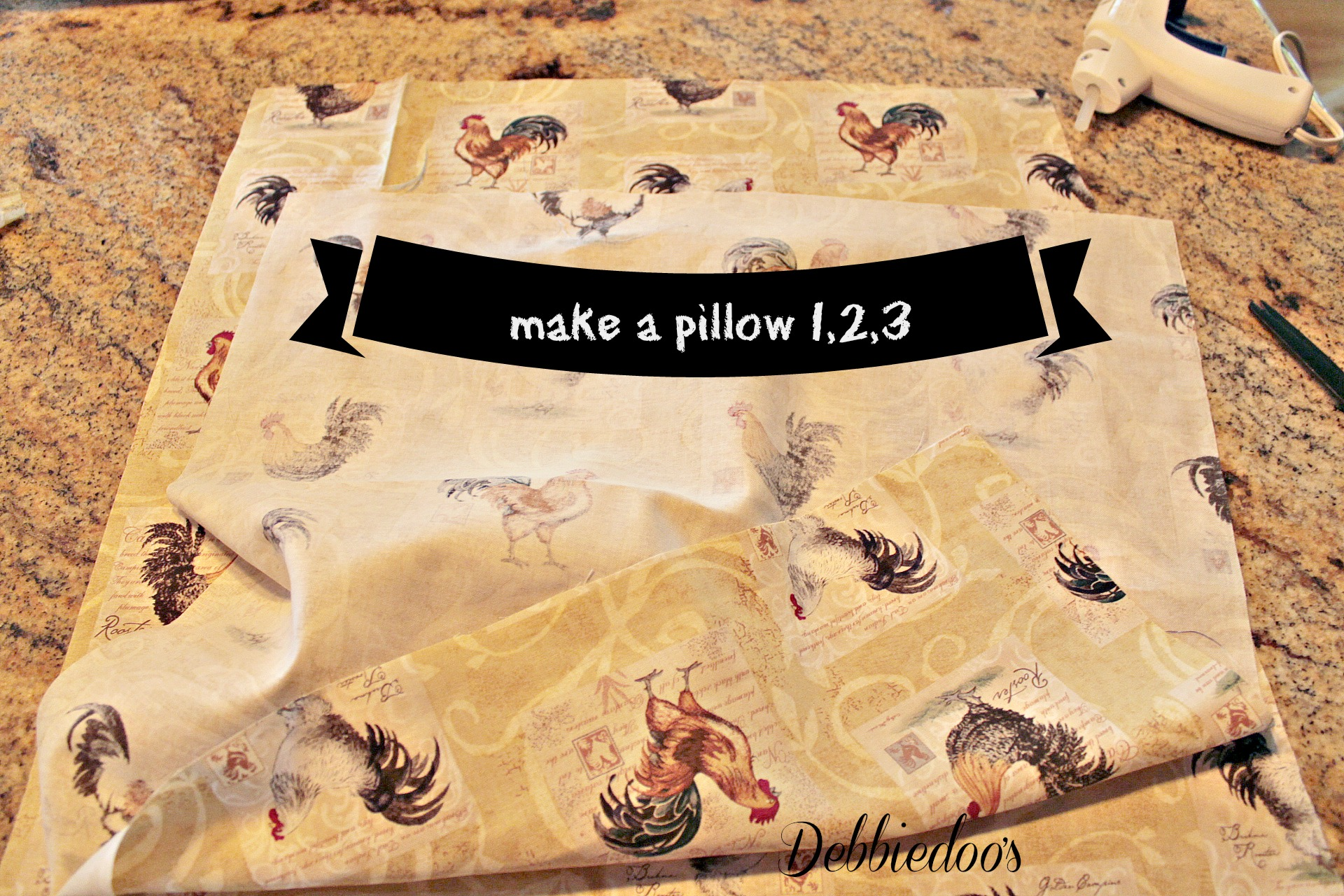 make a pillow with hot glue gun