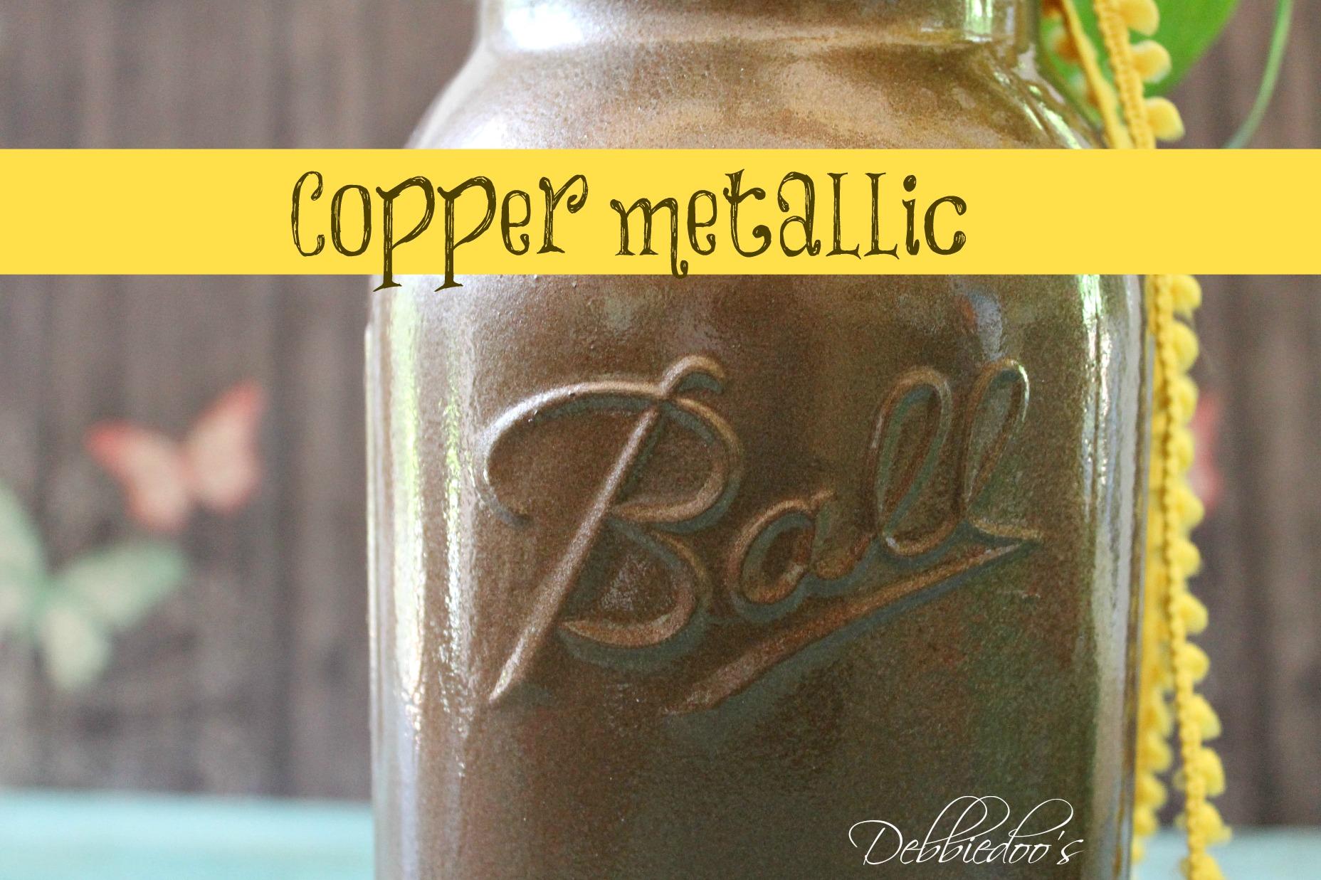 mason jar copper metallic spray paint