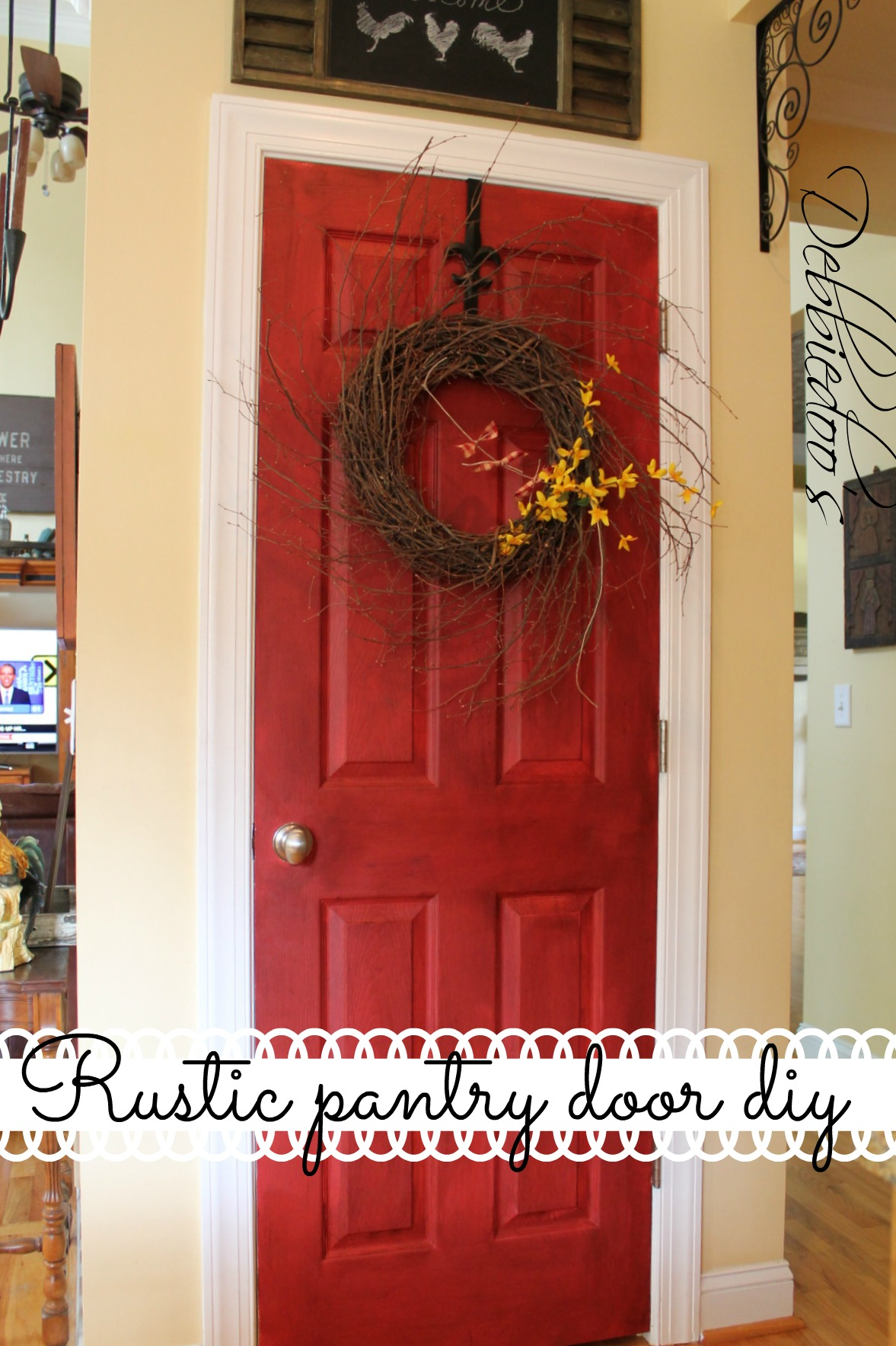 painting a pantry door rustic