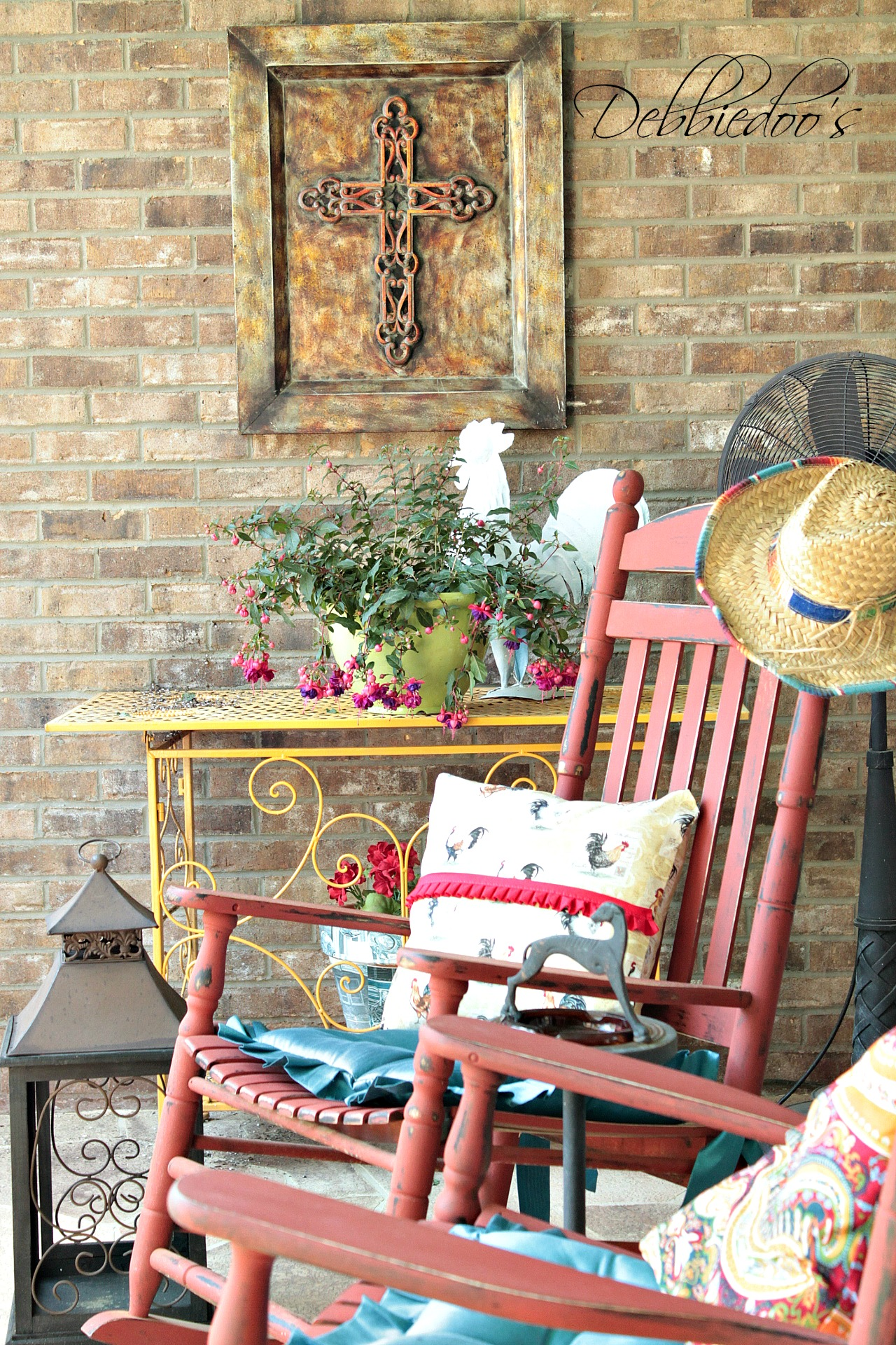rustic carolina front porch