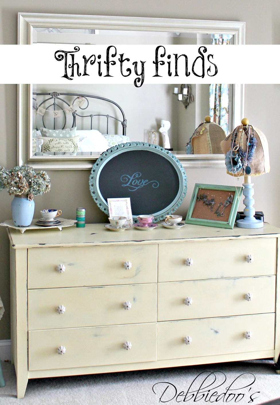 thrifty finds in the bedroom