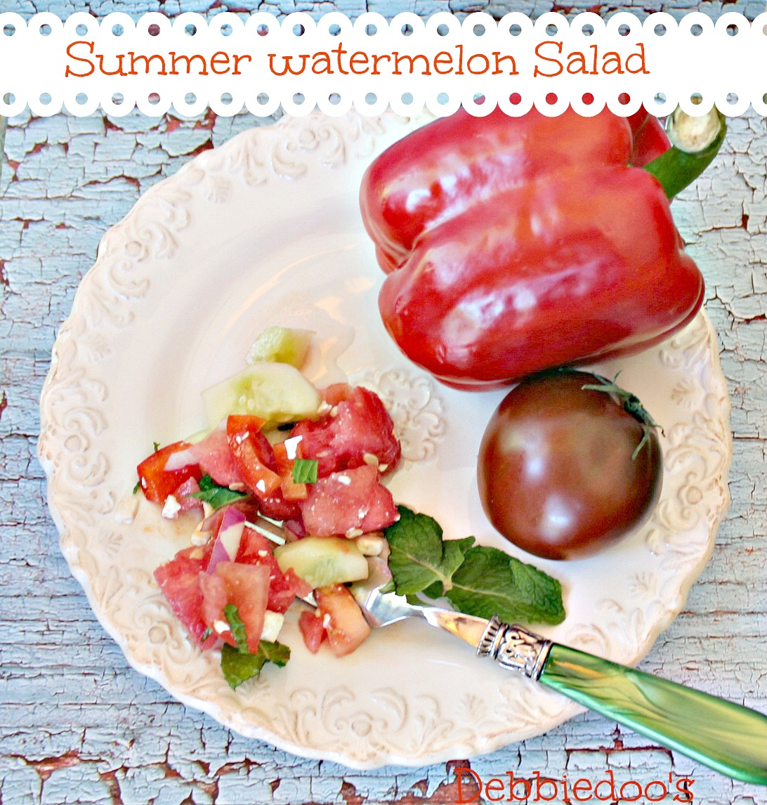 Tomato And Watermelon Salad With Feta Cheese Recipes ...