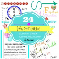 24 Free Printables for all occasions