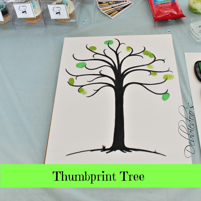 thumbprint tree for baby shower