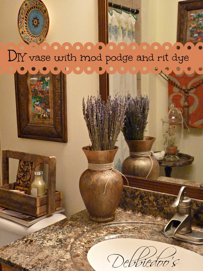 diy vase with rit dye and mod podge
