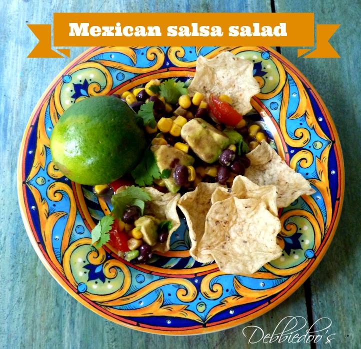 salsa mexican salad with avocodo's