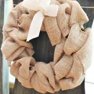 Burlap runner, pillows, a wreath oh my