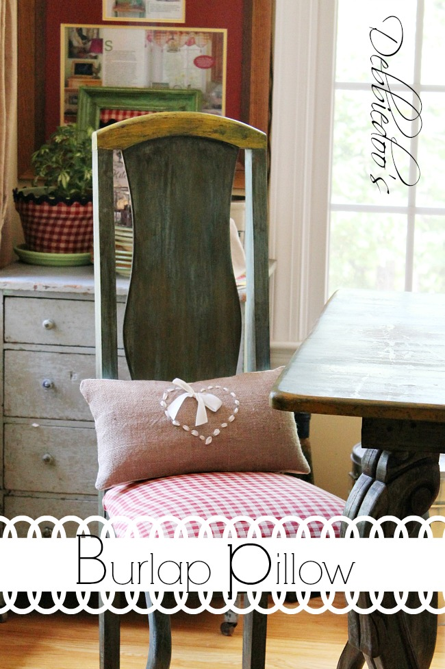 burlap chair wreath, pillow and runner 031