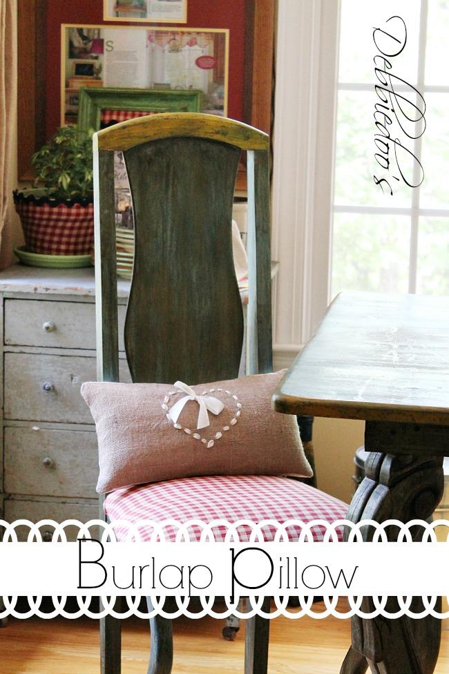 burlap chair wreath, pillow and runner 031