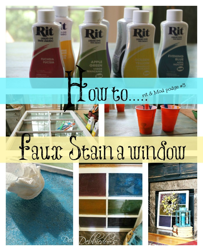 how to faux a window stained glass