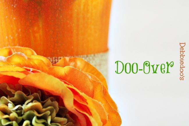 sunshine orange vase with Rit dye doo-over