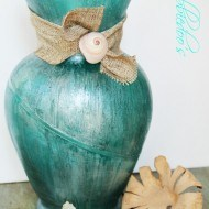 Coastal-rit-dye-vase-with-mod-podge-and-teal-rit-dye