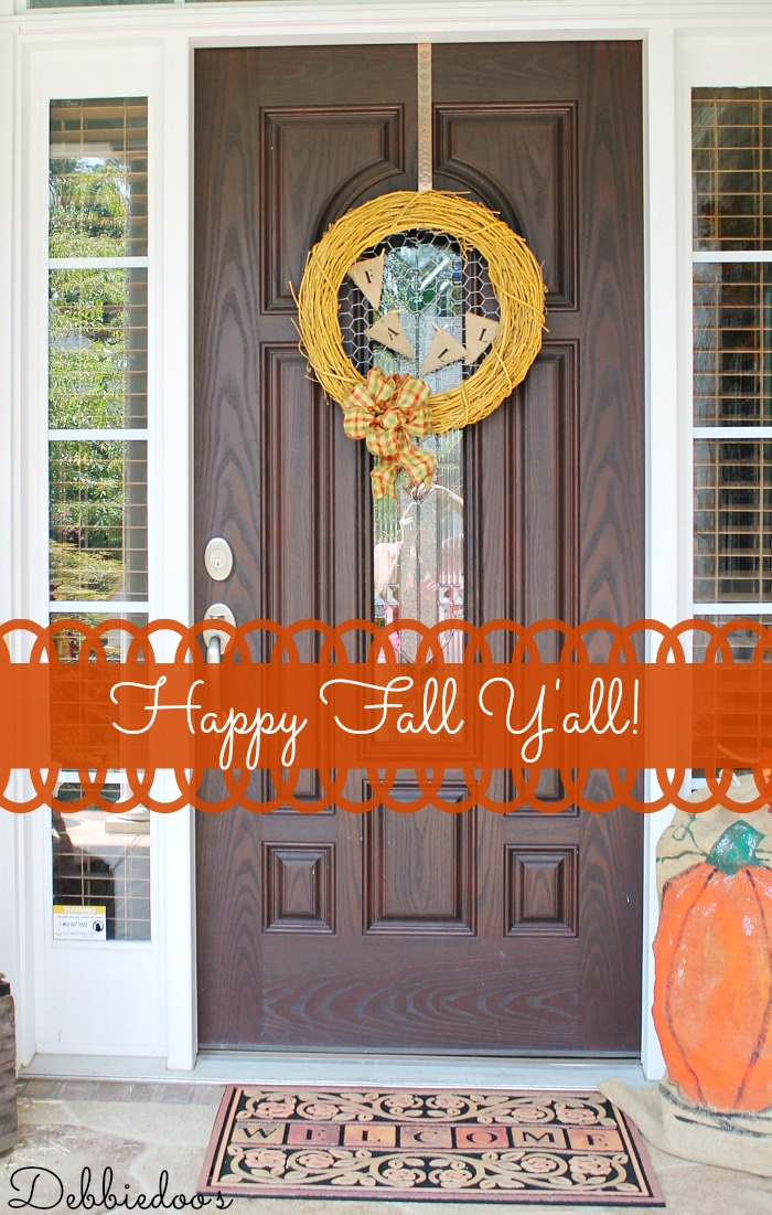 Fall wreath with chicken wire 012