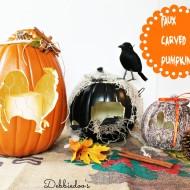 Faux carved pumpkins