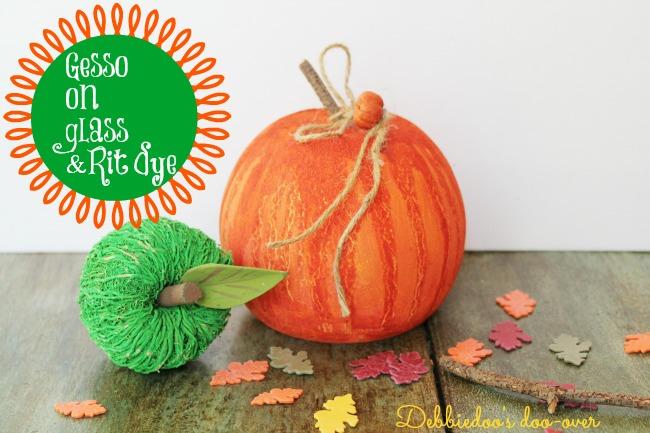 Gesso glass pumpkin 019