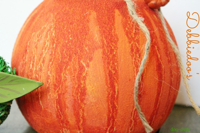 Gesso glass pumpkin with rit dye