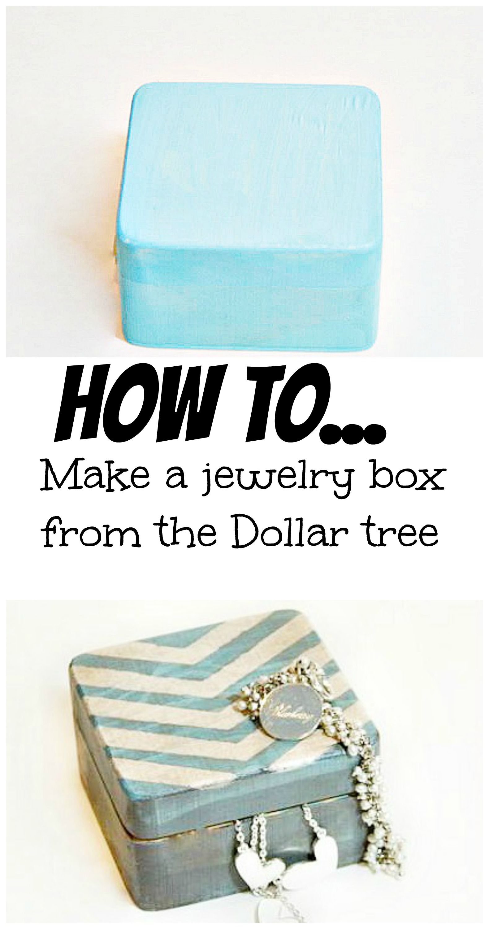 How to make a jewelry box from the dollar tree